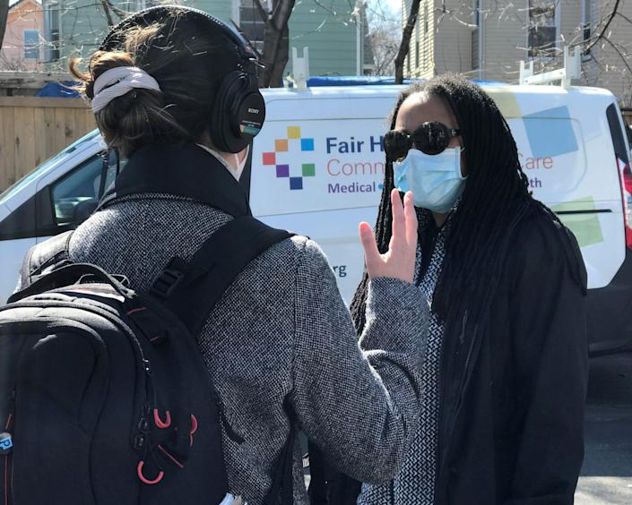 Marcella Nunez-Smith, chairwoman of the White House Health Equity Task Force, joined others March 13, 2021, to help administer vaccines to residents in Fair Haven, Connecticut. (Photo courtesy of the White House Health Equity Task Force)