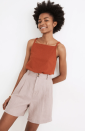 """<p><strong>Madewell</strong></p><p>madewell.com</p><p><strong>$54.50</strong></p><p><a href=""""https://go.redirectingat.com?id=74968X1596630&url=https%3A%2F%2Fwww.madewell.com%2Flinen-long-pleated-shorts-99106202330.html&sref=https%3A%2F%2Fwww.thepioneerwoman.com%2Ffashion-style%2Fg36608512%2Fbest-high-waisted-shorts%2F"""" rel=""""nofollow noopener"""" target=""""_blank"""" data-ylk=""""slk:Shop Now"""" class=""""link rapid-noclick-resp"""">Shop Now</a></p><p>These long linen shorts have a vintage feel that we love, and they come in the prettiest neutral petal pink shade. Plus, the 6"""" inseam hits at the perfect spot on your leg.</p>"""