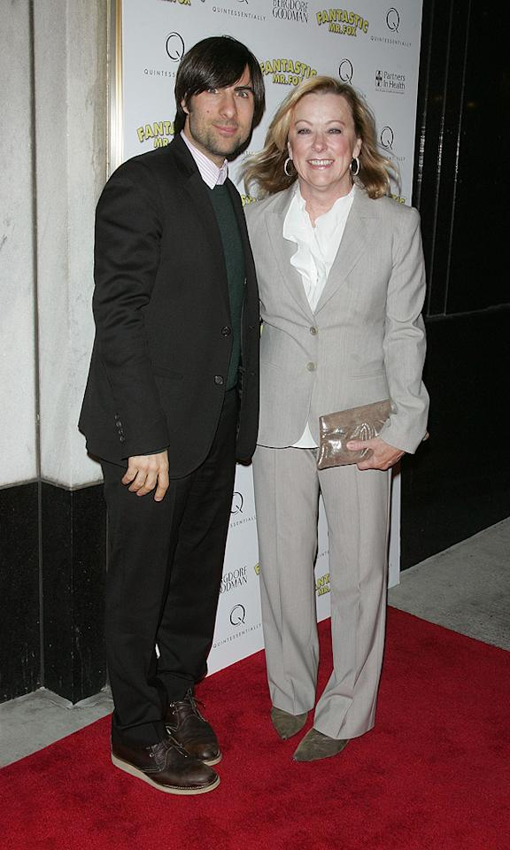 """<a href=""""http://movies.yahoo.com/movie/contributor/1800024308"""">Jason Schwartzman</a> and Fox Searchlight CEO Nancy Utley at the New York City premiere of <a href=""""http://movies.yahoo.com/movie/1810028004/info"""">Fantastic Mr. Fox</a> - 11/10/2009"""
