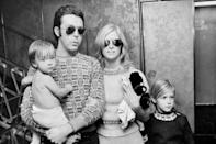 <p>With Linda and two of their children in a glam moment in N.Y.C.</p>