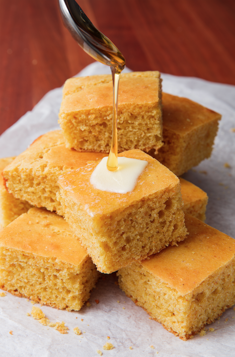 """<p>Wayyy better than the boxed stuff. </p><p>Get the recipe from <a href=""""https://www.delish.com/cooking/recipe-ideas/a20079535/best-homemade-cornbread-recipe/"""" rel=""""nofollow noopener"""" target=""""_blank"""" data-ylk=""""slk:Delish."""" class=""""link rapid-noclick-resp"""">Delish.</a> </p>"""