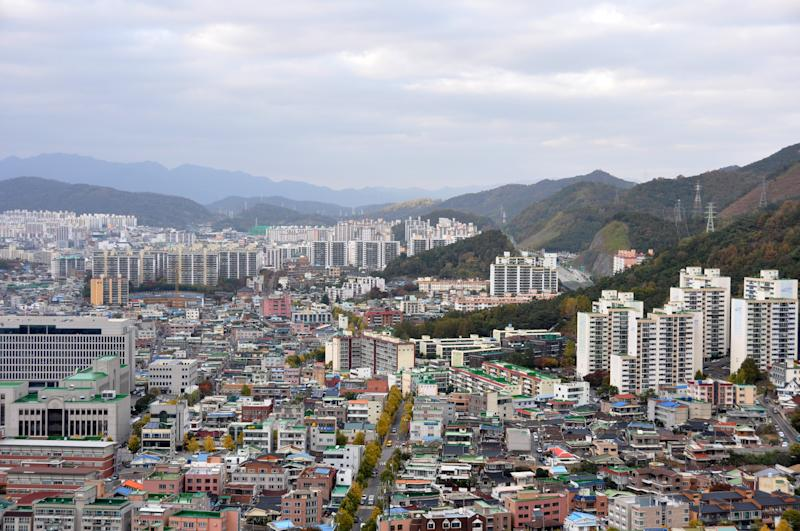 View of Gwangju city