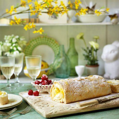 """<p>If you don't want to make lemon curd, use 150g (5oz) bought curd.<strong><br></strong></p><p><strong>Recipe: <a href=""""https://www.goodhousekeeping.com/uk/food/recipes/lemon-and-almond-meringue-roulade"""" rel=""""nofollow noopener"""" target=""""_blank"""" data-ylk=""""slk:Lemon and almond meringue roulade"""" class=""""link rapid-noclick-resp"""">Lemon and almond meringue roulade</a></strong><br><br> </p>"""