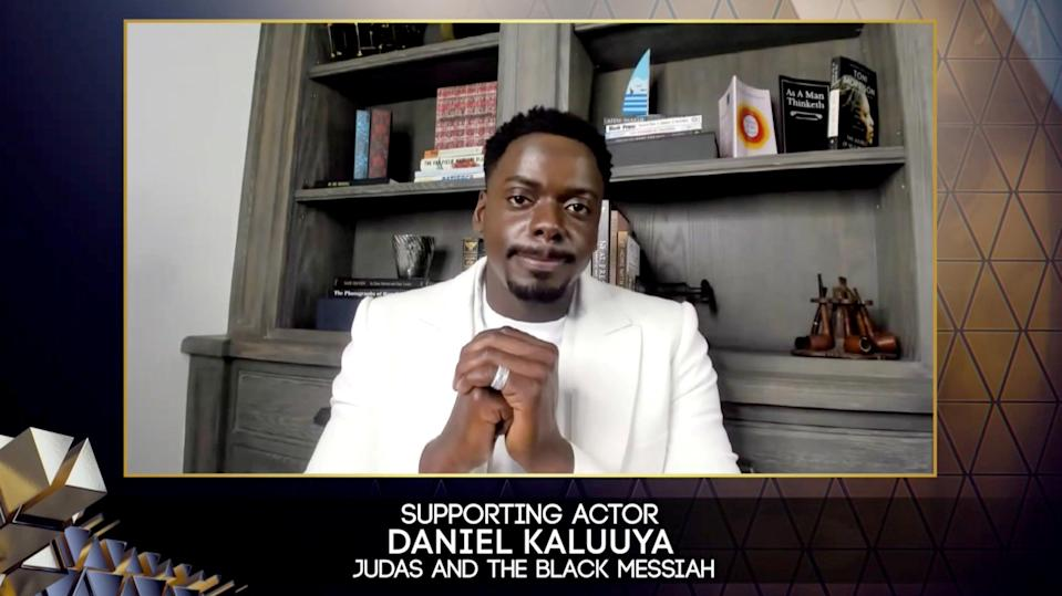Daniel Kaluuya won supporting actor for his role in Judas and the Black Messiahvia REUTERS