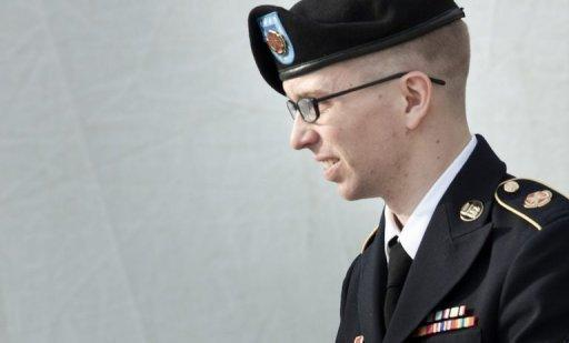 US Army Private Bradley Manning, following a hearing in March 2012