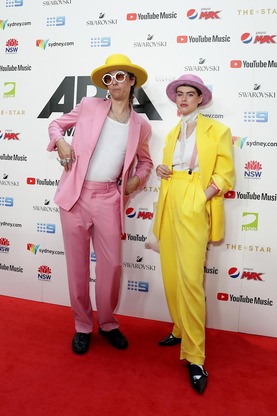 Painter Anthony Lister arrives for the ARIA Awards 2019 at The Star. Photo: Getty Images