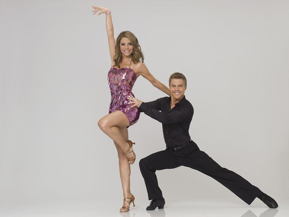 <p>This entertainment news host <em>was</em> the entertainment for a season. Maria came in fourth place with her partner, Derek Hough. </p>