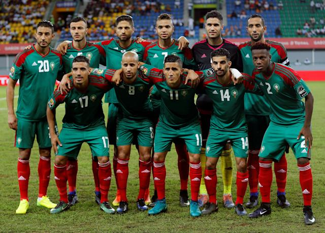 FILE PHOTO: Football Soccer - African Cup of Nations - Quarter Finals - Egypt v Morocco- Stade de Port Gentil - Gabon - 29/1/17. Morocco's national team poses for photographs ahead of the match. REUTERS/Amr Abdallah Dalsh/File Photo