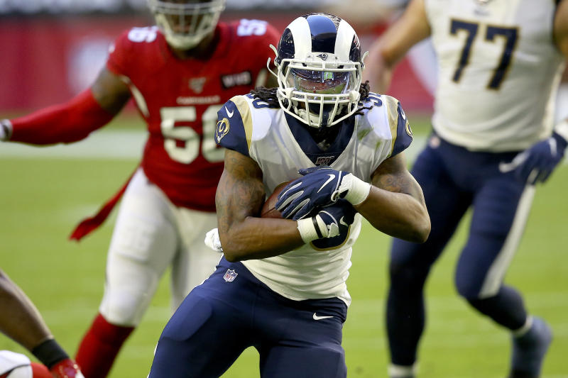 Los Angeles Rams running back Todd Gurley has seen an increase in his workload. (AP Photo/Ross D. Franklin)