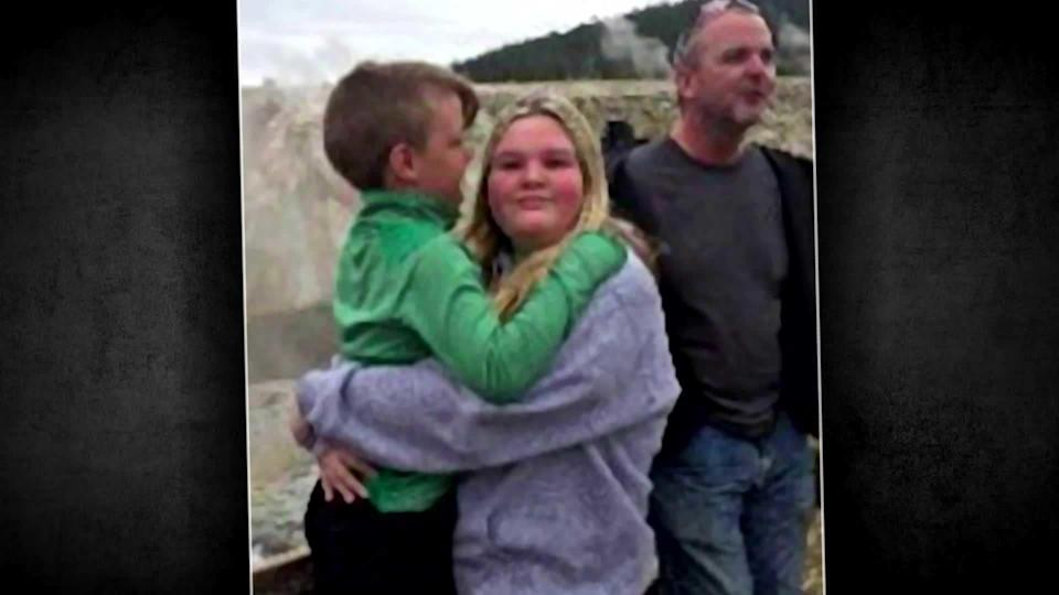 JJ Vallow and Tylee Ryan at Yellowstone National Park on September 8, 2019. At right is their mother's brother Alex Cox.  / Credit: FBI