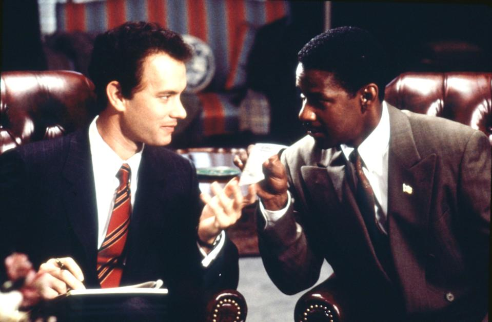"<p>Tom Hanks earned his first-ever Academy Award for <em>Philadelphia</em>, in which he plays a gay lawyer who believes his firm fired him over his AIDS diagnosis. Denzel Washington plays the lawyer who defends him, and their on-screen energy is palpable and powerful. <em>Philadelphia</em> is one of the first mainstream Hollywood films to explore issues like homosexuality and HIV/AIDS and was formative viewing for many queer people. Myself included. — <em>CR</em></p> <p><a href=""https://www.netflix.com/watch/855084?source=35"" rel=""nofollow noopener"" target=""_blank"" data-ylk=""slk:Stream here"" class=""link rapid-noclick-resp""><em>Stream here</em></a></p>"