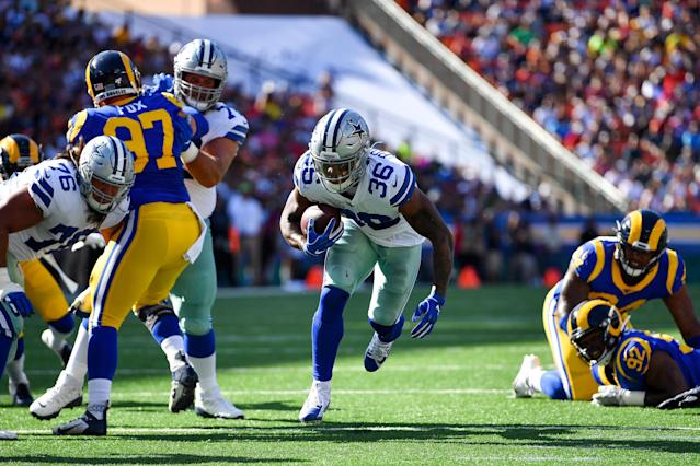 Cowboys owner Jerry Jones has been impressed with running back Tony Pollard, and thinks he could be a solid piece next to Ezekiel Elliott this season. (Alika Jenner/Getty Images)