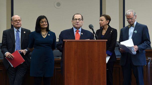 PHOTO: House Judiciary Committee Chairman Jerrold Nadler speaks during a news conference on Capitol Hill to highlight the MORE Act (Marijuana Opportunity Reinvestment and Expungement Act) legislation in Washington, DC, Nov. 19, 2019. (Olivier Douliery/AFP via Getty Images, FILE)