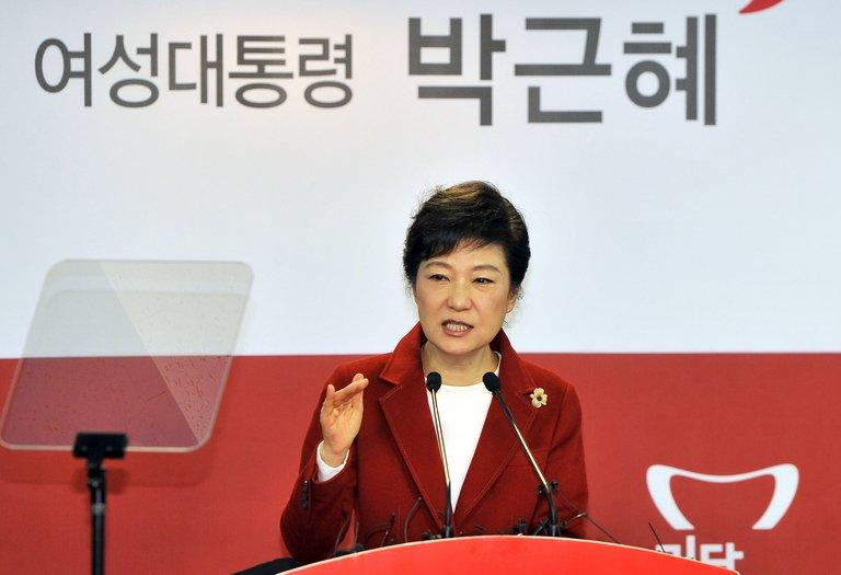 South Korea's incoming president Park Geun-Hye (pictured in Seoul, on December 18, 2012) has signalled her administration's willingness to step in to stabilise the won and protect exporters battling a stronger Korean currency and a weaker yen