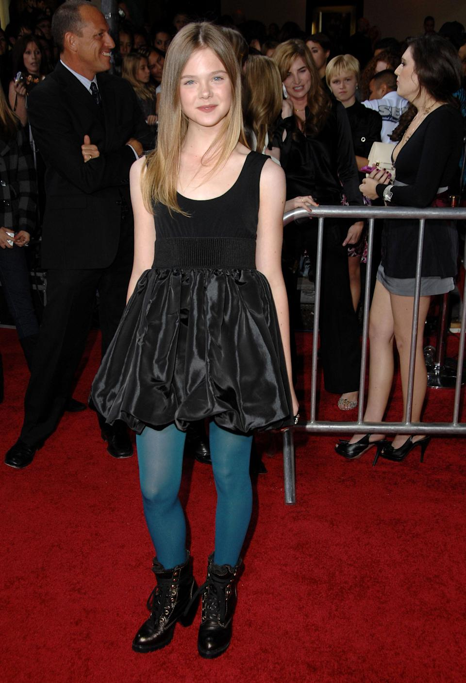 "Fanning at the premiere of Summit Entertainment's ""The Twilight Saga: New Moon"" in Westwood."