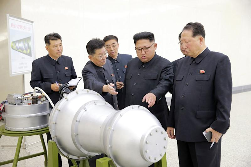 North Korean leader Kim Jong Un at an undisclosed location (Korean Central News Agency/Korea News Service via AP, File)