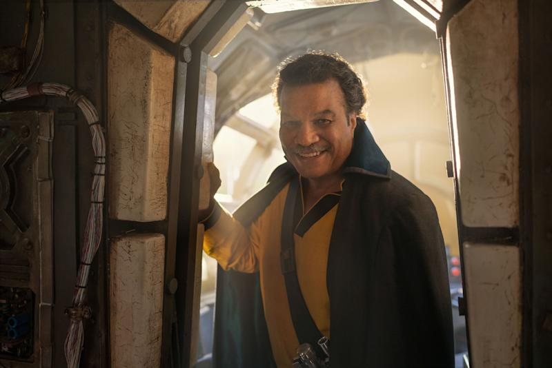 Billy Dee Williams puts the cape on for a final time as Lando Calrissian. (Photo: Lucasfilm)
