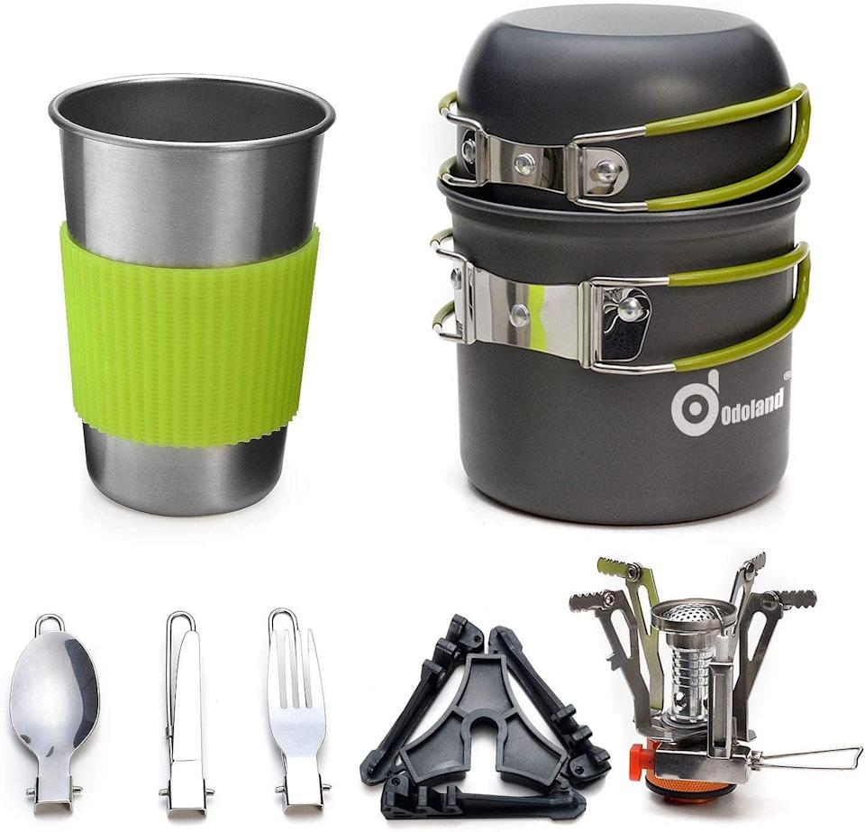 <p>This little <span>Odoland Camping Cookware Kit</span> ($27, originally $31) contains so many gadgets.</p>