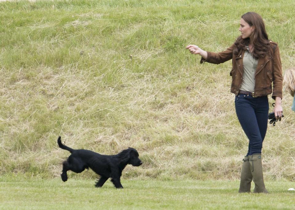 Kate Middleton is mourning the loss of royal family dog Lupo. (Photo:Mark Cuthbert/UK Press via Getty Images)