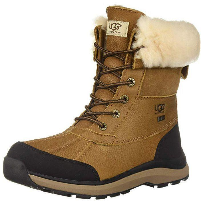 """<p><strong>UGG</strong></p><p>amazon.com</p><p><strong>$249.95</strong></p><p><a href=""""https://www.amazon.com/dp/B0794ZL53R?tag=syn-yahoo-20&ascsubtag=%5Bartid%7C10055.g.29389536%5Bsrc%7Cyahoo-us"""" rel=""""nofollow noopener"""" target=""""_blank"""" data-ylk=""""slk:Shop Now"""" class=""""link rapid-noclick-resp"""">Shop Now</a></p><p>The perfect commuting shoe is both practical and stylish enough to walk into the office in. These UGG winter boots are just that. They have a leather upper and rubber sole for great traction in slippery conditions. The<strong> lace up design and fur top</strong><strong> make these winter boots a chic option</strong>. With a 7"""" shaft height, these boots are high enough to keep you warm, but not too bulky for your commute.</p>"""