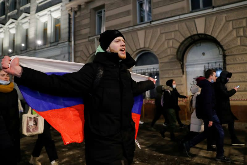 FILE PHOTO: Demonstrations supporting Russian opposition politician Alexei Navalny in Moscow