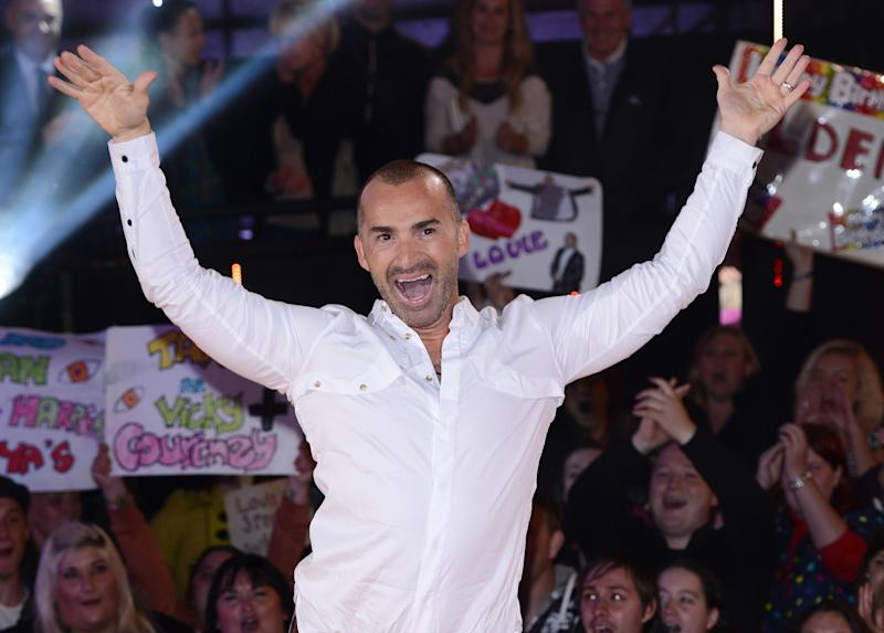 BOREHAMWOOD, ENGLAND - SEPTEMBER 11: Louie Spence is evicted from the Celebrity Big Brother House at Elstree Studios on September 11, 2013 in Borehamwood, England. (Photo by Karwai Tang/WireImage)