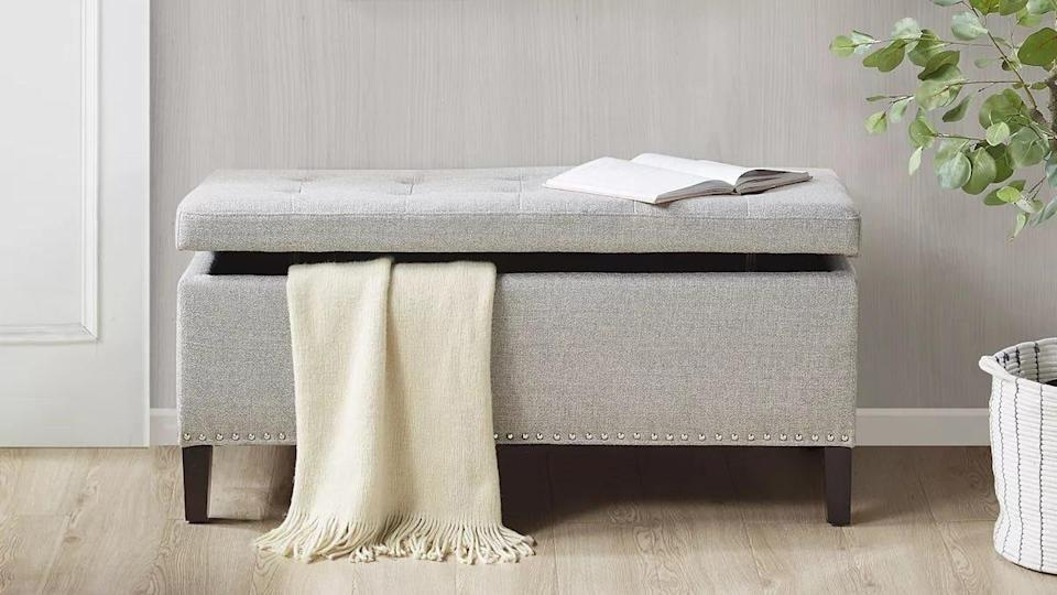 Customers praised this Madison Park storage ottoman for its size, look and light weight.