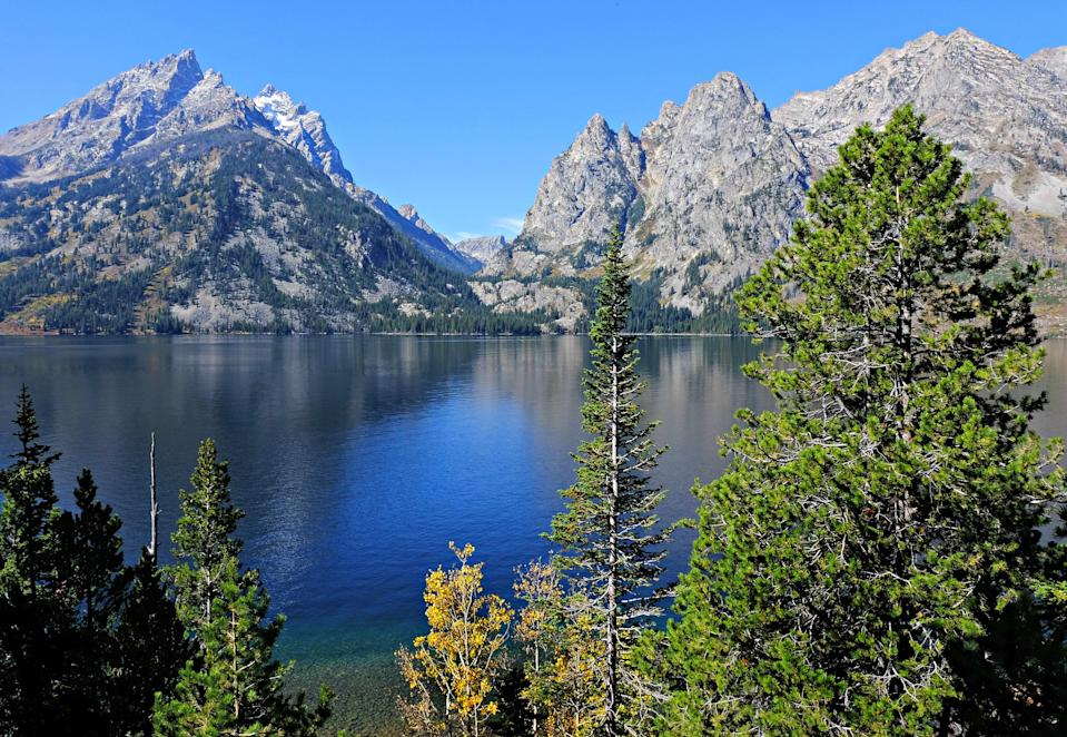 """<p><strong>Best camping in Wyoming:</strong> Jenny Lake Campground, Grand Teton National Park</p> <p>The <a href=""""https://www.cntraveler.com/tag/grand-teton-national-park?mbid=synd_yahoo_rss"""" rel=""""nofollow noopener"""" target=""""_blank"""" data-ylk=""""slk:Grand Tetons"""" class=""""link rapid-noclick-resp"""">Grand Tetons</a> are so gorgeous, it's hardly fair. Set right at the base of their jutting rock, Jenny Lake is a hub of park activity, with the best views in the joint. Named after the Shoshone wife of a trapper from the mid-1800s, this first-come, first-served tents-only spot fills quickly. But it's worth the effort, especially for hikers looking to explore nearby sagebrush meadows, rocky canyons, and chilly alpine lakes.</p>"""