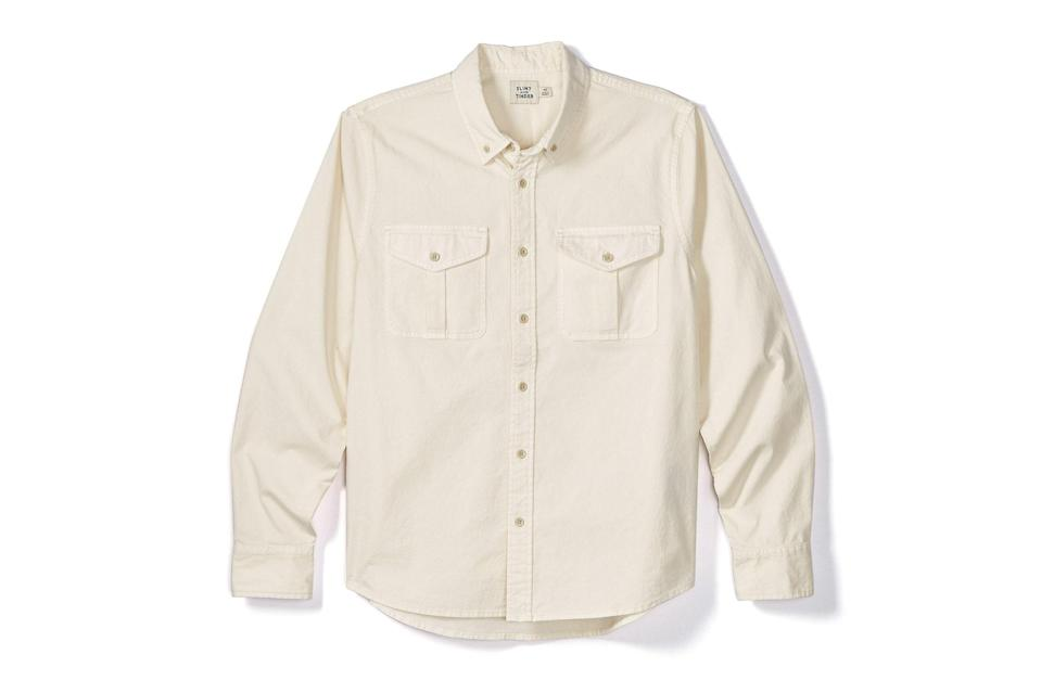 "$98, Huckberry. <a href=""https://huckberry.com/store/flint-and-tinder/category/p/60963-stretch-utility-shirt"" rel=""nofollow noopener"" target=""_blank"" data-ylk=""slk:Get it now!"" class=""link rapid-noclick-resp"">Get it now!</a>"