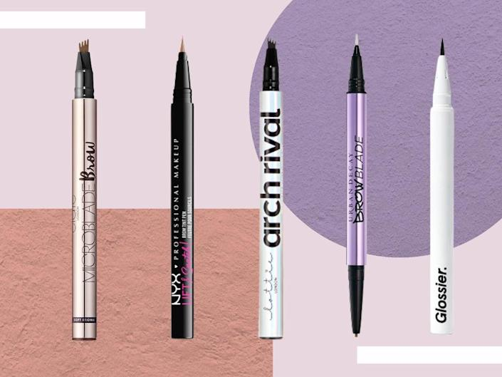 We judged our favourites based on how easy they were to use, and how well they mimicked the microbladed effect (iStock/The Independent)