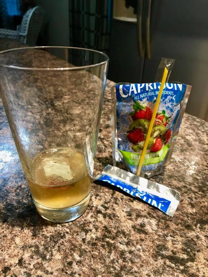 Cameron Hardwick almost gave his daughter a Capri Sun that was contaminated with mold. (Photo: Facebook/Cameron Hardwick)