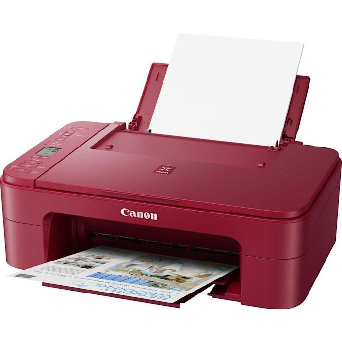 """<strong>Pages Per Minute: </strong>In black and white, this printer can print 7 pages per minute. <br><strong>Monochrome Vs. Color: </strong>This all-in-one can do color and can handle black and white printing. <br><strong>Cartridge Details:</strong> It includes a Canon PG-243 in black and CL-244 color ink cartridge. <br><strong> What Else Can This Printer Do: </strong>There's a scanner on this printer, too. <br><strong> $$$: </strong><a href=""""https://fave.co/2EHh6kb"""" rel=""""nofollow noopener"""" target=""""_blank"""" data-ylk=""""slk:Find it for $50 at Adorama"""" class=""""link rapid-noclick-resp"""">Find it for $50 at Adorama</a>. Keep in mind that it's on backorder."""