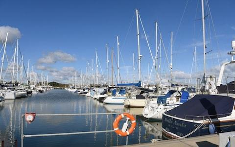 The marina at the seaside town of Lymington in Hampshire - Credit: Jay Williams