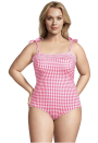 """<p>For family-friendly yet stylish options in standard and plus sizing, head over to Lands' End. Flattering one-pieces, bikini sets with moderate coverage, and sun-protective swim shirts make for worthy additions to your vacation packing list. The <a href=""""https://go.redirectingat.com?id=74968X1596630&url=https%3A%2F%2Fwww.landsend.com%2Fshop%2Fwomens-swimsuits%2FS-xfh-xez-y5c-xec%3Fshow%3D345545%252C345526%252C345546%252C345527%252C345528%252C345520%252C345521%252C345531%26cm_re%3Dlec-_-hp-_-hp-_-feature-2-3-_-shop-womens-swim-_-20210512-_-cta&sref=https%3A%2F%2Fwww.oprahdaily.com%2Fstyle%2Fg27391962%2Fbest-swimwear-brands%2F"""" rel=""""nofollow noopener"""" target=""""_blank"""" data-ylk=""""slk:collaboration with Draper James"""" class=""""link rapid-noclick-resp"""">collaboration with Draper James</a> (shown here) is particularly fun, featuring sweet prints like gingham and crushed florals in classic cuts.</p><p><a class=""""link rapid-noclick-resp"""" href=""""https://go.redirectingat.com?id=74968X1596630&url=https%3A%2F%2Fwww.landsend.com%2Fshop%2Fswim%2FS-xec-xe0%3Fcm_re%3Dlec-_-global-_-glbnv-swim-_-20160316-_-txt&sref=https%3A%2F%2Fwww.oprahdaily.com%2Fstyle%2Fg27391962%2Fbest-swimwear-brands%2F"""" rel=""""nofollow noopener"""" target=""""_blank"""" data-ylk=""""slk:SHOP NOW"""">SHOP NOW</a></p>"""