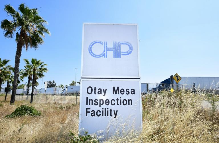 The Otay Mesa cargo facility in on the US-Mexico border in San Diego