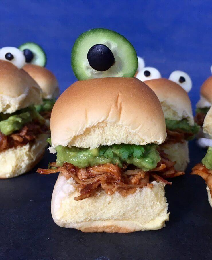 """<p>Use your slow cooker to create these crazy-good little BBQ chicken sliders. </p><p><a class=""""link rapid-noclick-resp"""" href=""""https://www.iheartnaptime.net/tex-mex-chicken-sliders/"""" rel=""""nofollow noopener"""" target=""""_blank"""" data-ylk=""""slk:GET THE RECIPE"""">GET THE RECIPE</a></p>"""