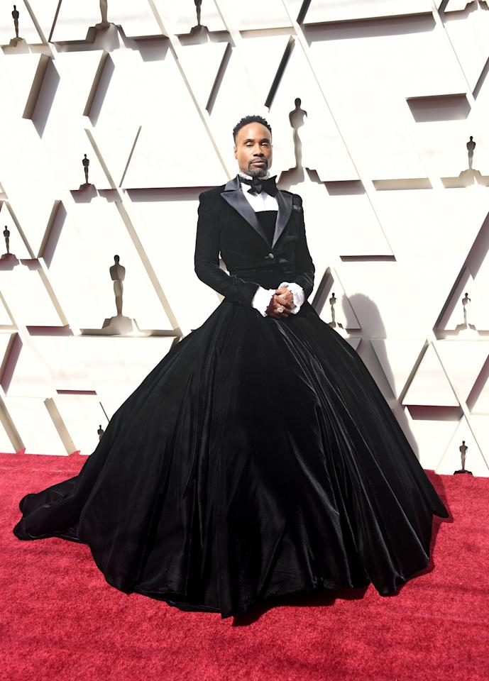"As a whole, red-carpet style in 2019 was impressive and imaginative, but it was actor Billy Porter that challenged the status quo when he arrived at the Academy Awards last February wearing a custom Christian Siriano tuxedo gown. ""I believe men on the red carpet would love to play more,"" he told <a href=""https://www.vogue.com/article/billy-porter-oscars-red-carpet-gown-christian-siriano?mbid=synd_yahoo_rss""><em>Vogue</em></a> of the look that stunningly questioned the societal norms of so-called masculine and feminine dressing. Siriano was the perfect partner to bring this full-skirted, tuxedo-jacketed creation to life because of his always inclusive approach to fashion and, as Porter explained, ""he was the first person who understood that everybody wears clothes—not just size zeros."" While Porter is not the only celebrity to debunk dressing norms in 2019—Ezra Miller, Billie Eilish, and Jonathan Van Ness each have their own approach to nonconforming personal style—his choice to wear a tuxedo gown to the most anticipated red carpet of all awards season sent an especially powerful message about the freedom of expression."