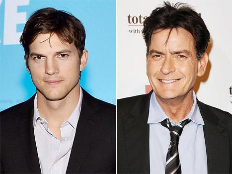 """Ashton Kutcher Tells Charlie Sheen to """"Shut the F--k Up"""" About Two and a Half Men"""