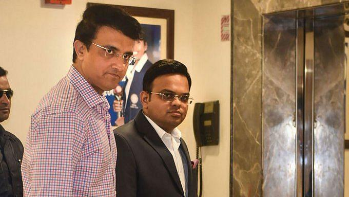 Sourav Ganguly and Jay Shah at the BCCI Office