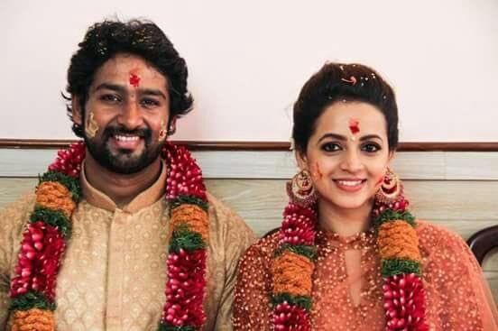 Who is Bhavana Menon's beau and husband-to-be Naveen?