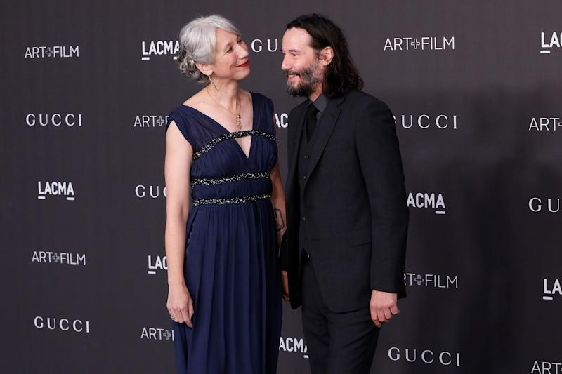 LOS ANGELES, CALIFORNIA - NOVEMBER 02: Alexandra Grant and Keanu Reeves attend the 2019 LACMA Art + Film Gala at LACMA on November 02, 2019 in Los Angeles, California. (Photo by Taylor Hill/Getty Images)