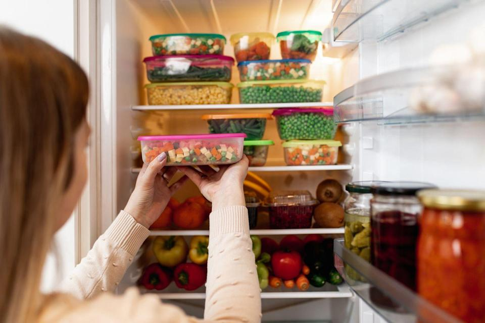 <p>You'll find a selection of plastic and glass food containers at the grocery store, but you don't need to buy them there. Not only are they going to be more expensive at the grocery store, but there also won't be a ton of options and you probably have to buy them individually rather than in a package. </p><p>You're better off ordering a package of food containers from Amazon to save money. You'll also find a wider variety of options elsewhere. </p>
