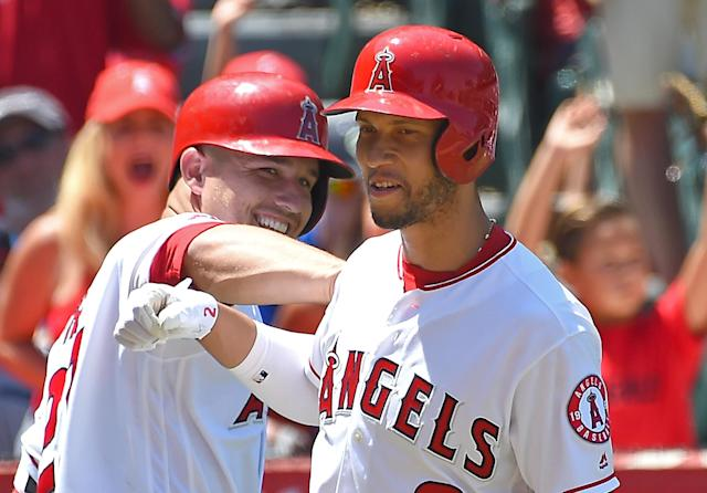 Andrelton Simmons has the second highest WAR in baseball — ahead of teammate Mike Trout. (Photo by Jayne Kamin-Oncea/Getty Images)