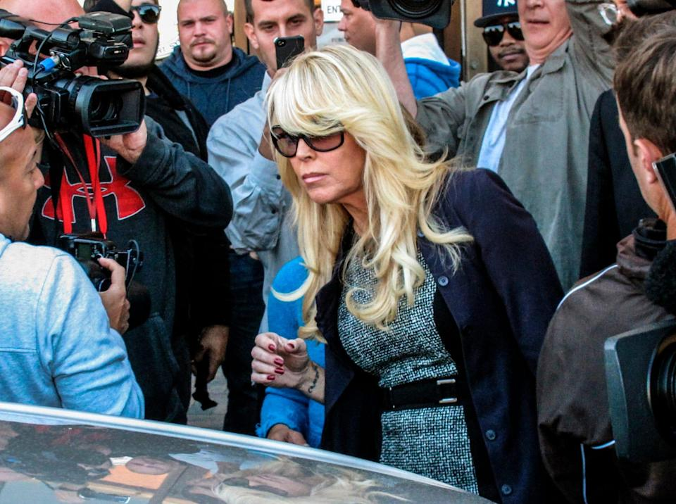 Dina Lohan, actor Lindsay Lohan's mother, pleaded guilty to drunken driving Tuesday and is expected to be sentenced to 18 days in jail and five years' probation for rear-ending another car on Long Islandand leaving the scene.