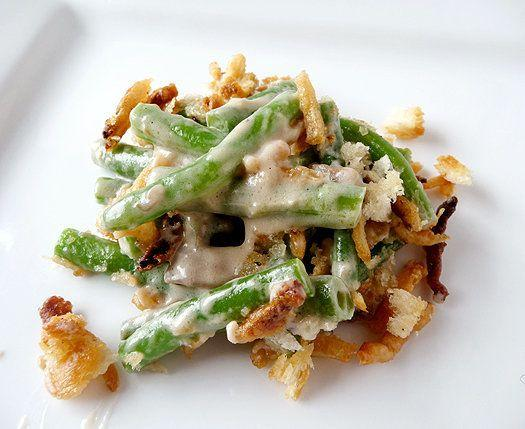 "<strong>Get the <a href=""http://www.browneyedbaker.com/2010/11/18/classic-green-bean-casserole-recipe/"">Fresh Green Bean Casserole recipe from Brown Eyed Baker</a></strong>"