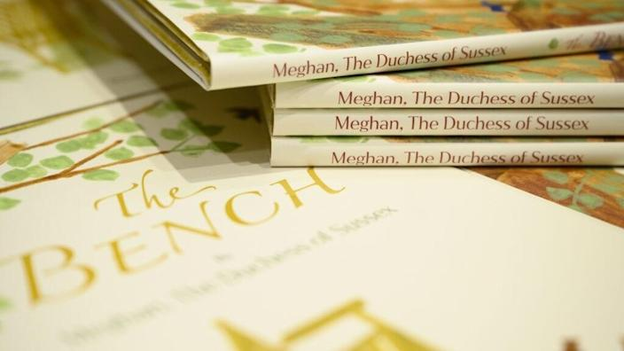 """Copies of Meghan Markle's book """"The Bench"""" sit on display in Europe's largest bookstore Waterstones Piccadilly in London, England. (Photo by Leon Neal/Getty Images)"""