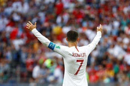 Soccer Football - World Cup - Group B - Portugal vs Morocco - Luzhniki Stadium, Moscow, Russia - June 20, 2018 Portugal's Cristiano Ronaldo celebrates after the match REUTERS/Kai Pfaffenbach