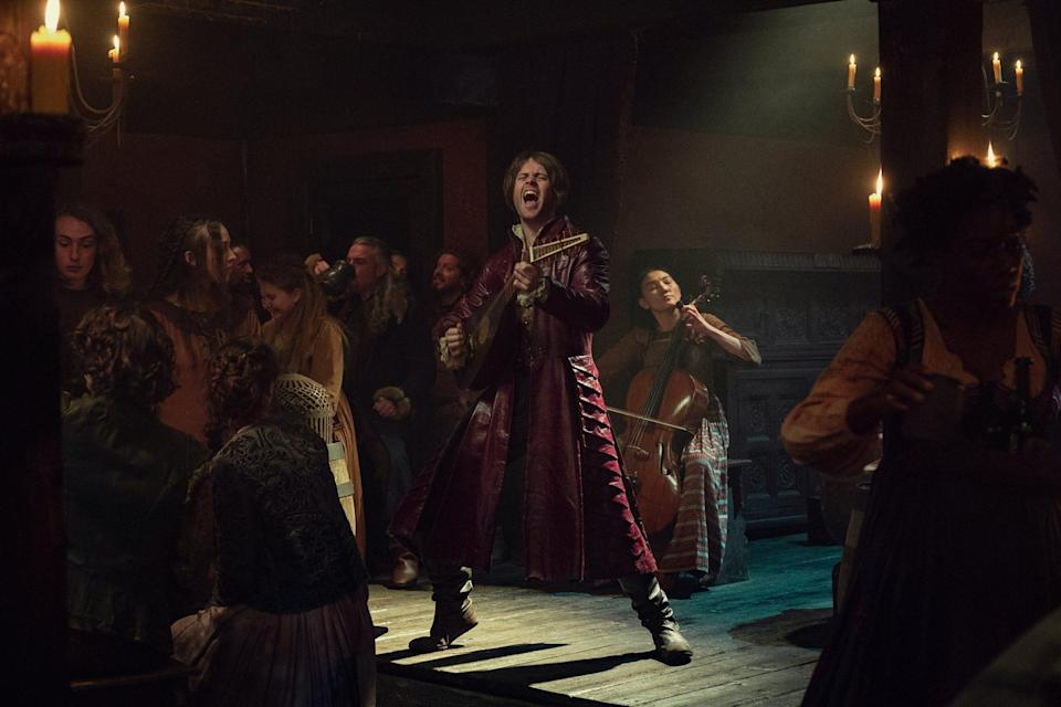 Jaskier rocking out in season 2 of The Witcher
