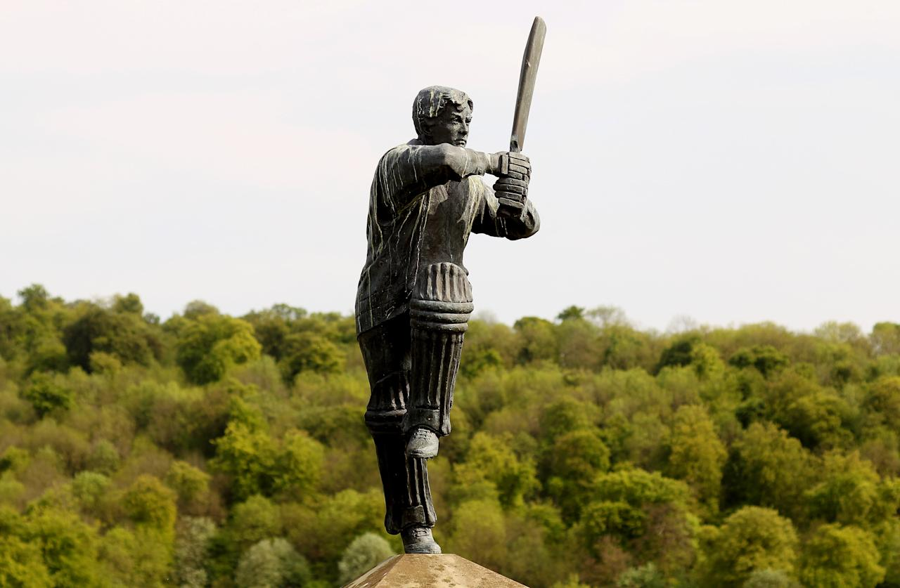 HIGH WYCOMBE, ENGLAND - MAY 01:  A general view of the batsman statue during the Clydesdale Bank 40 Group C match between Unicorns and Somerset at Wormsley Cricket Ground on May 1, 2011 in High Wycombe, England.  (Photo by Scott Heavey/Getty Images)