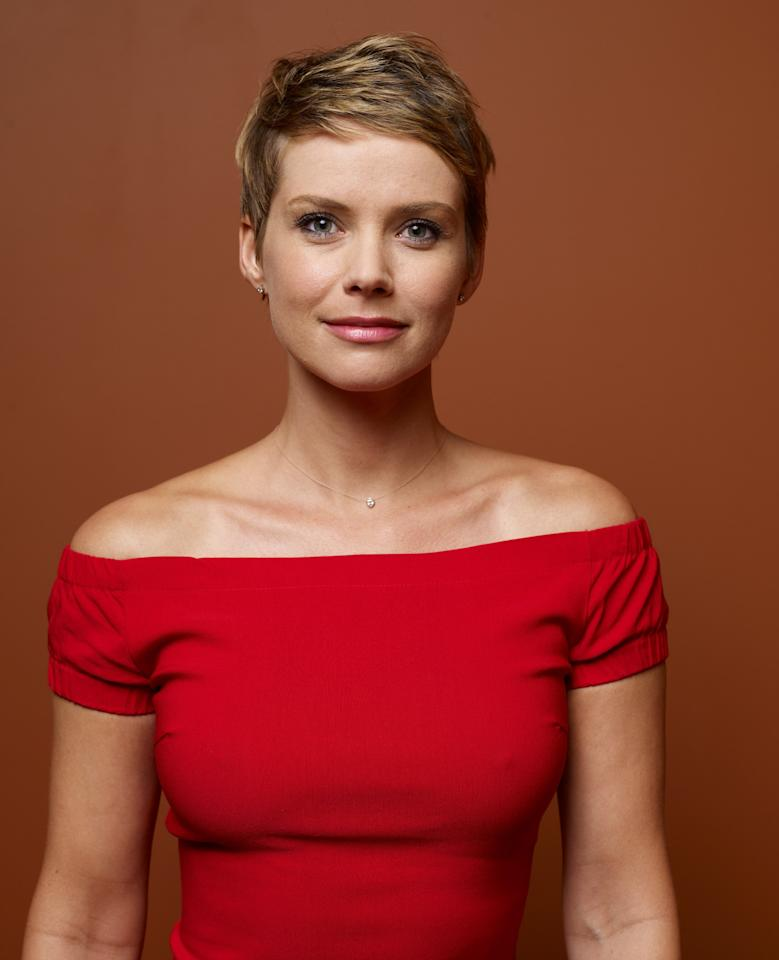 """TORONTO, ON - SEPTEMBER 11:  Actress Andrea Osvárt of """"Aftershock"""" poses at the Guess Portrait Studio during 2012 Toronto International Film Festival on September 11, 2012 in Toronto, Canada.  (Photo by Matt Carr/Getty Images)"""